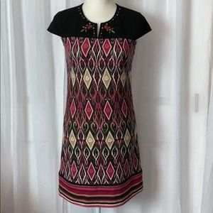 Laundry By Shelli Segal Beaded Neck Mini Dress 4
